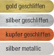 Silber farbe ral  Profil-Buchstaben mit oder ohne Leuchtelemente - Werbetechnik-ABS